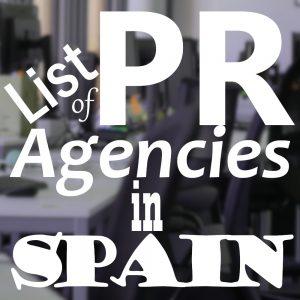 list pr agencies spain